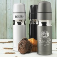 Contour Stainless Steel Vacuum Flask Muffin Break