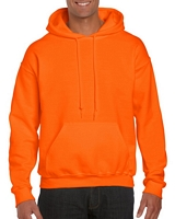 Gildan Dryblend Adult Hooded Sweatshirt Safety Orange M