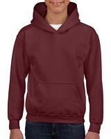Gildan Heavy Blend Youth Hooded Sweatshirt Maroon S
