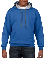 Gildan Heavy Blend Adult Contrast Hooded Sweatshirt Royal / Sport Grey M