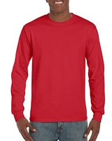 Gildan Ultra Cotton Adult Long Sleeve T-Shirt Red M