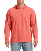Comfort Colors Adult Long Sleeve Hooded T-Shirt Bright Salmon 2XL