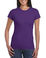 Gildan Softstyle Ladies' T-Shirt Purple M