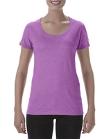 Gildan Ladies Deep Scoop T-Shirt Heather Radiant Orchid M