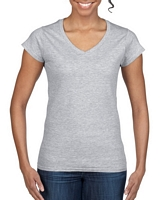 Gildan Softstyle Ladies' V-Neck T-Shirt RS Sport Grey M