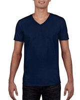 Gildan Sofystyle Adult V-Neck T-Shirt Navy M