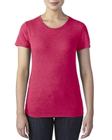 Anvil Women's Tri-Blend T-Shirt Heather Red M