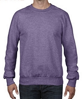 Anvil Crewneck French Terry Heather Purple M