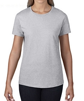 Anvil Women's Black Label T-Shirt Heather Grey XS
