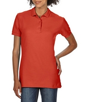 Gildan Premium Cotton  Ladies Double Pique Sport Shirt Red S