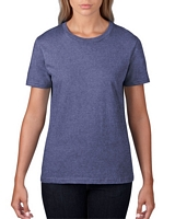 Anvil Women's Lightweight T-Shirt Heather Blue S