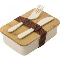 Wheat Straw Lunchbox with Bamboo Lid