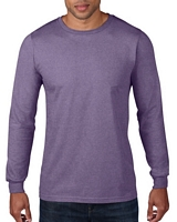 Anvil Adult Long Sleeve RingSpun T-Shirt Heather Purple M