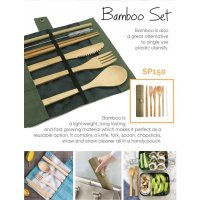 6 Pieces Reusable Bamboo Cutlery Set (SP150)