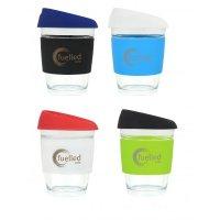 Reusable Eco Cup Glass Karma Coffee Kup (G1799) 12oz/340ml