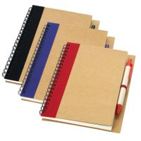 A5 Recycled Notebook with Matching Recycled Pens