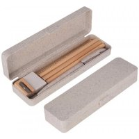 Eco Stationery Set in Wheat Straw Pencil Case