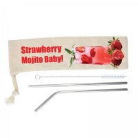 Mojito Drinking Straw Set (LL8782)