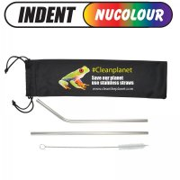 Stainless Steel Drinking Straws in Pouch (LN8781)
