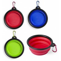 Custom Branded Foldable Pets Bowls for Solid and Liquid Food