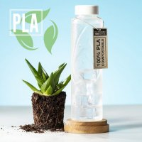 830ml Nature Reusable Drink Bottles made from 100% Compostable PLA
