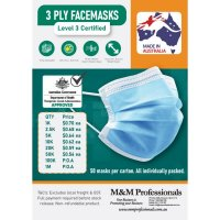 3 Ply Face Masks Level 3 Certified Made in Australia