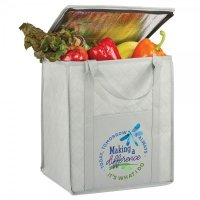 Non Woven Cooler Tote Bag with Zipper Lid