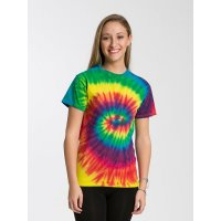 1000 Adult Tie Dye T Shirt Reactive Rainbow