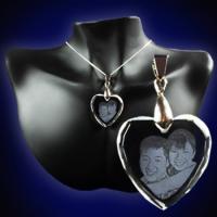 Crystal Heart Pendant 2D