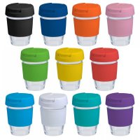 Reusable Eco Cup Glass Karma Kup (G1799 New Lid) 12oz/340ml