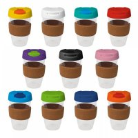 Reusable Acrylic Karma Kup with Cork Band, Push On Lid (G1967) 16oz/535ml