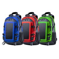Solar Charger Backpack with Earphone Outlet