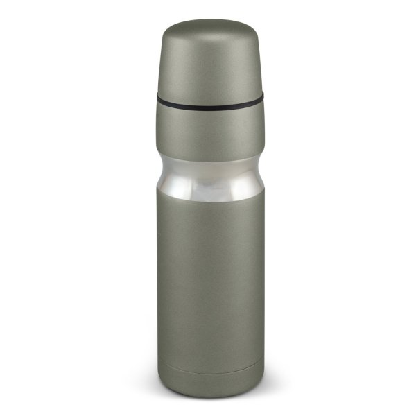 Contour Stainless Steel Vacuum Flask Grey