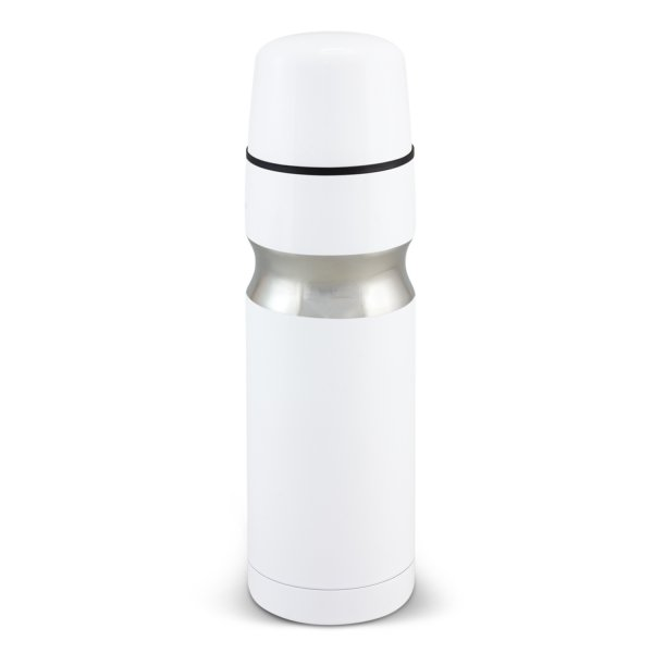 Contour Stainless Steel Vacuum Flask White