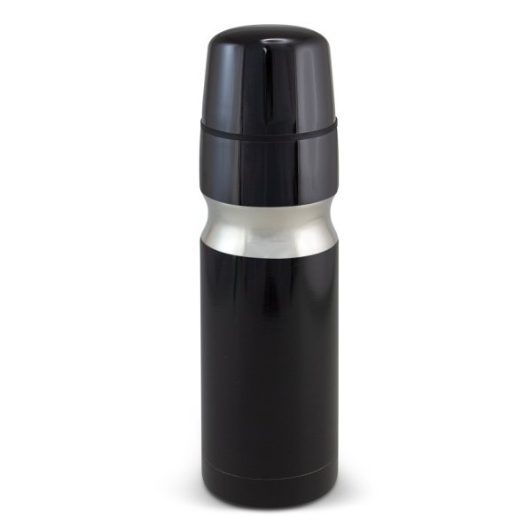 Contour Stainless Steel Vacuum Flask Black
