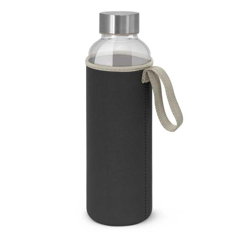 600ml Borosilicate Glass Bottle with Neoprene Sleeve Black