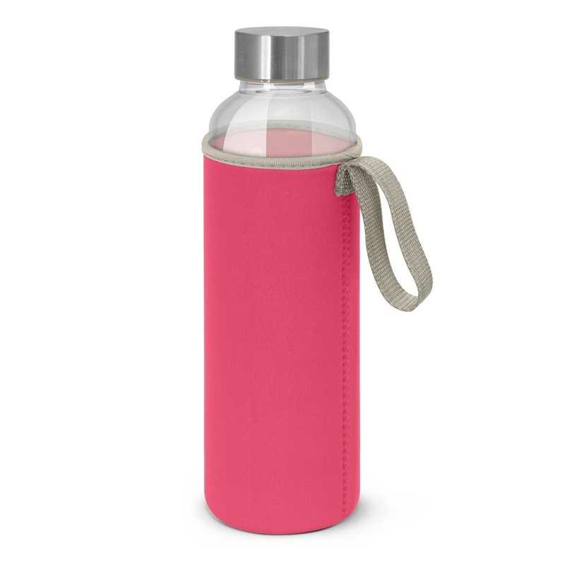 Borosilicate Glass Bottle with Neoprene Sleeve Pink