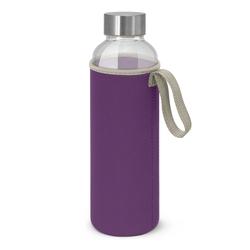 600ml Borosilicate Glass Bottle with Neoprene Sleeve Purple