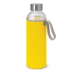 Borosilicate Glass Bottle with Neoprene Sleeve Yellow