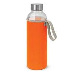 Borosilicate Glass Bottle with Neoprene Sleeve Orange