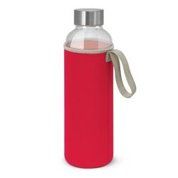 Borosilicate Glass Bottle with Neoprene Sleeve Red