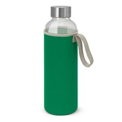 Borosilicate Glass Bottle with Neoprene Sleeve Dark Green