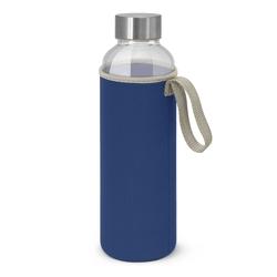 Borosilicate Glass Bottle with Neoprene Sleeve Royal Blue